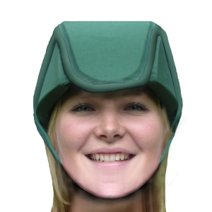 Plum's® ProtectaCap+Plus® Protective Headgear Medium Hunter Green